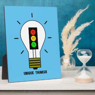 Schwermütige Stoplight-Glühlampen-einzigartiger Fotoplatte