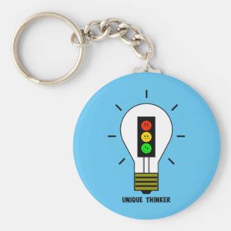 Schwermütige Stoplight-Glühlampen-einzigartiger Schlüsselanhänger