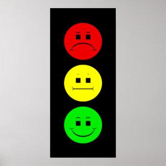 Schwermütiger Stoplight Posterdruck