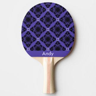 Schwermütiges blaues mit Monogramm Tischtennis Schläger