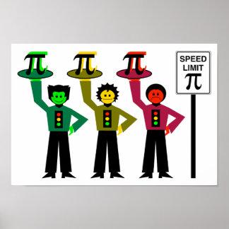Schwermütiges Stoplight-Trio nahe bei Poster