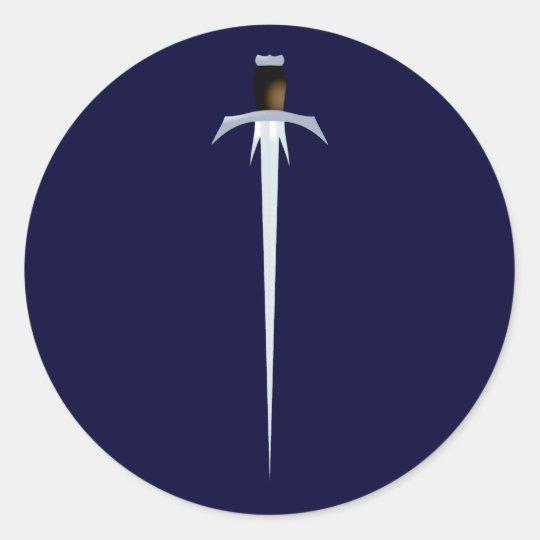 Schwert sword runder aufkleber