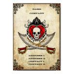 Schwerter und Herz - Geschäfts-Karte Visitenkarten Vorlage