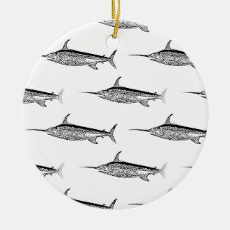 Schwertfisch-hängende Verzierung Keramik Ornament