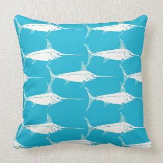Schwertfisch-Muster Kissen