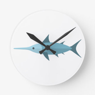Schwertfisch-Primitiv-Art Runde Wanduhr
