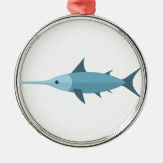 Schwertfisch-Primitiv-Art Silbernes Ornament