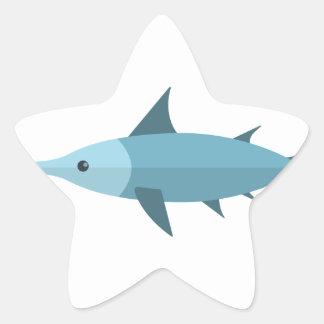 Schwertfisch-Primitiv-Art Stern-Aufkleber