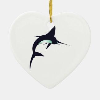 Schwertfisch swordfish keramik ornament
