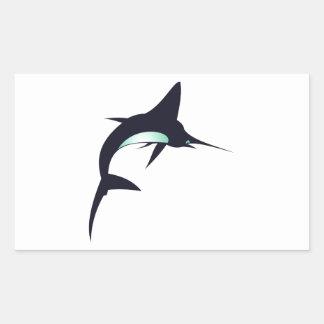 Schwertfisch swordfish rechteckiger aufkleber
