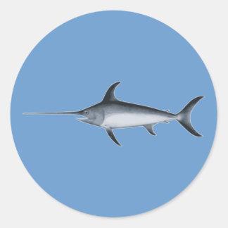 Schwertfisch swordfish runder aufkleber