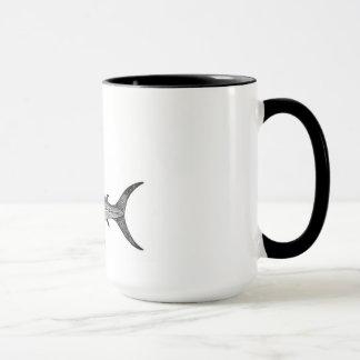Schwertfisch-Tasse, wissenschaftliche Illustration Tasse