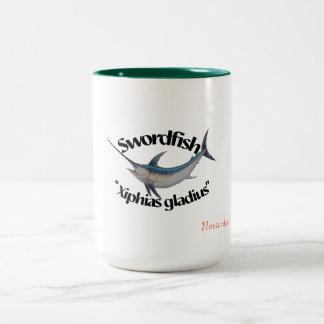 Schwertfisch-Tasse Zweifarbige Tasse