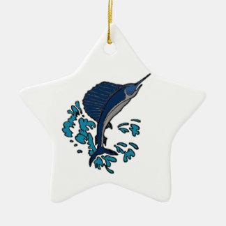 Schwertfische Keramik Ornament