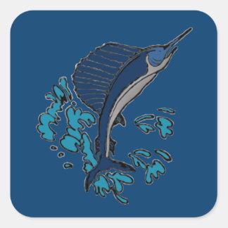 Schwertfische Quadratischer Aufkleber