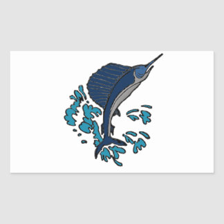 Schwertfische Rechteckiger Aufkleber