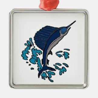Schwertfische Silbernes Ornament