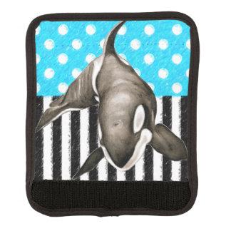 Schwertwal-Blau-Tupfen Gepäckgriff Marker