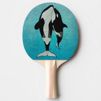 Schwertwal-Blau Woodblock Tischtennis Schläger