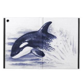 Schwertwal, der Blau durchbricht