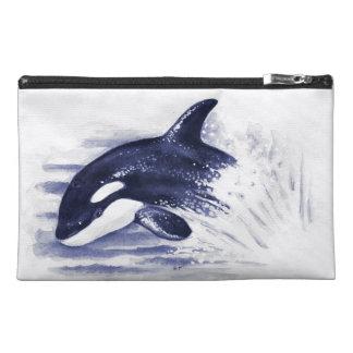 Schwertwal, der Blau durchbricht Reisekulturtasche