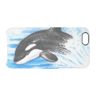 Schwertwal-Durchbrechen Durchsichtige iPhone 6/6S Hülle