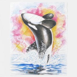 Schwertwal-Durchbrechen Fleecedecke