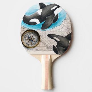 Schwertwal-Karte Tischtennis Schläger