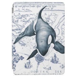 Schwertwal-Karten-Blau iPad Air Hülle