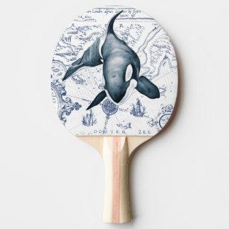 Schwertwal-Karten-Blau Tischtennis Schläger
