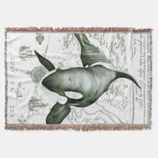Schwertwal-Karten-Grün Decke