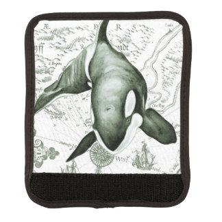 Schwertwal-Karten-Grün Gepäckgriff Marker