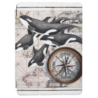 Schwertwal-Seekompaß iPad Air Hülle