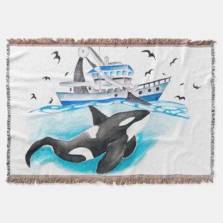 Schwertwal und das Fischerboot Decke