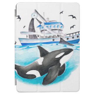 Schwertwal und das Fischerboot iPad Air Hülle