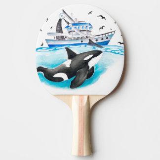 Schwertwal und das Fischerboot Tischtennis Schläger