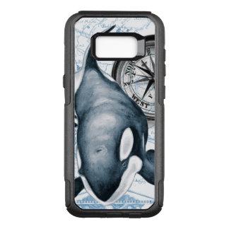 Schwertwal-Wal-Kompass OtterBox Commuter Samsung Galaxy S8+ Hülle