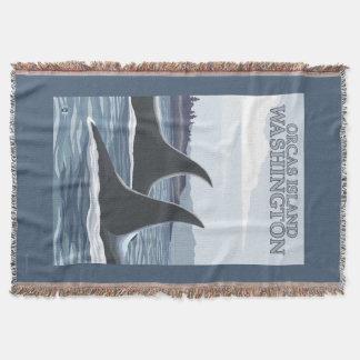 Schwertwal-Wale #1 - Schwertwale Insel, Washington Decke