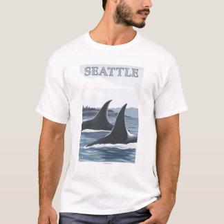 Schwertwal-Wale #1 - Seattle, Washington T-Shirt