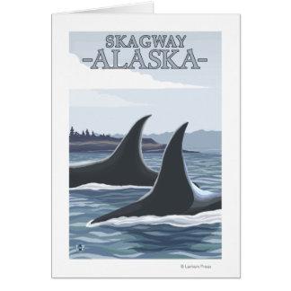Schwertwal-Wale #1 - Skagway, Alaska Karte