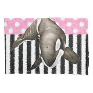Schwertwal-Walrosa-Tupfen Kissenbezug