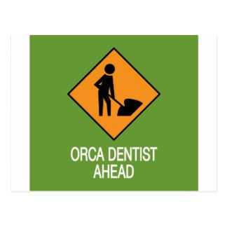 Schwertwal-Zahnarzt auf diese Weise Postkarte
