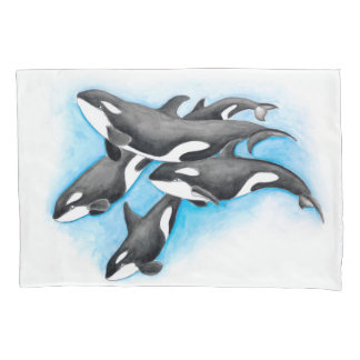 Schwertwale im Blau Kissenbezug