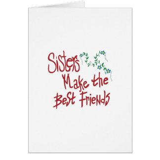 Schwester-beste Freunde Karte