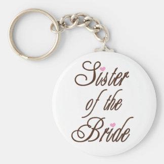 Schwester des Braut-noblen Brauns Standard Runder Schlüsselanhänger
