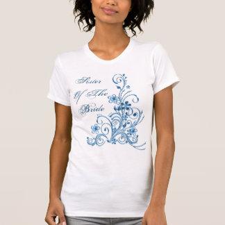 Schwester des Braut-T - Shirt: Himmel-Blau-Eleganz
