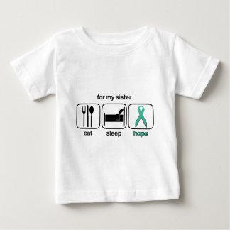 Schwester essen die Eierstockschlaf-Hoffnung - Baby T-shirt