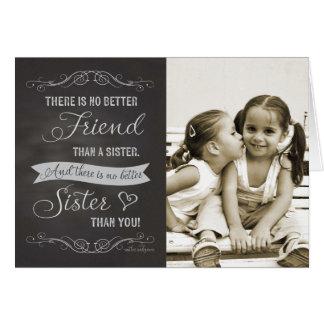 Schwester-Geburtstag - Tafelgewohnheits-Foto Karte