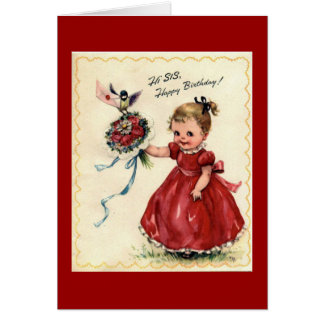 Schwester-Geburtstags-Gruß-Karte Grußkarte