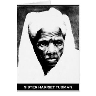 Schwester Harriet Tubman Karte